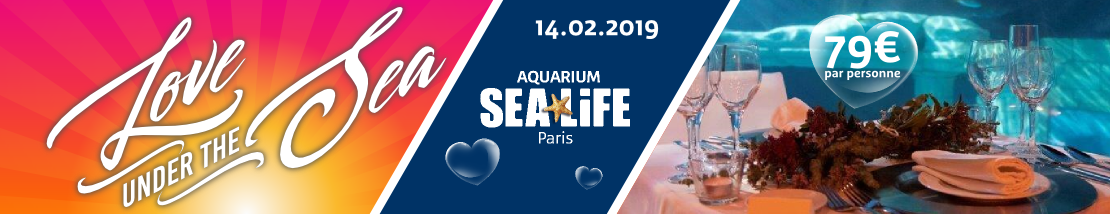 """Love under the Sea"" une soirée unique au coeur de Sea Life Paris"